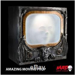 SCARY! Animated Gargoyle Haunted TV MOVING Halloween Decoration Prop + SOUND