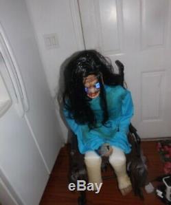 SCARY! Wheelchair Psycho Halloween Prop Animatronic Spirit Halloween Rare