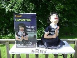 SPIRIT HALLOWEEN SAMANTHA LOLLIPOP GIRL HEAD PROP WithBOX UNTESTED HTF