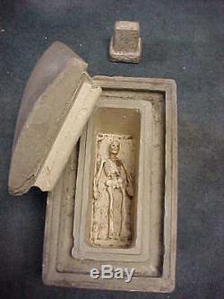 Salesman Sample Burial Vault And Tombstone