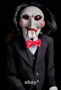 Saw Movie Billy Puppet Prop TRICK OR TREAT STUDIOS Halloween Scarry Jigsaw Game