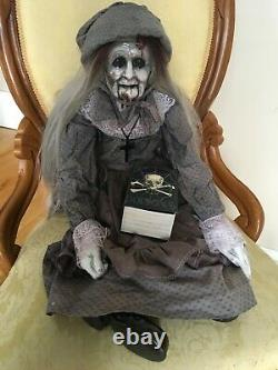 Scary, Creepy doll, zombie, witch, old crone doll, Halloween prop