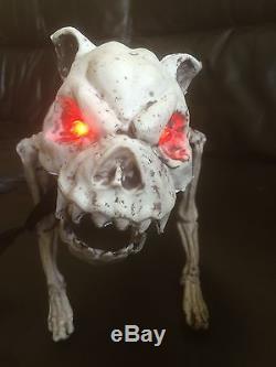 scary skeleton dog ghostlight up lights decoration propparty