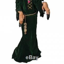 Scary Witch Prop Life Size Animatronic Animated Halloween Decoration
