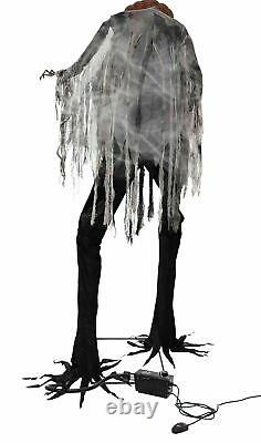 Scorched Scarecrow Animated Prop With Fog Lifesize 7' Animatronic Halloween