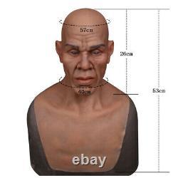 Silicone Realistic Man Face Prop Head Hoods For Cosplay Halloween Crossdresser