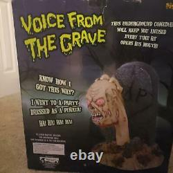 Spirit Halloween 2008 Rare Voice From the Grave Animated Prop