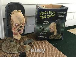Spirit Halloween 2008 Voice From The Grave Animated Prop With Box