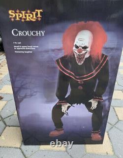 Spirit Halloween 7Ft Crouchy The Clown Animatronic Halloween Decor