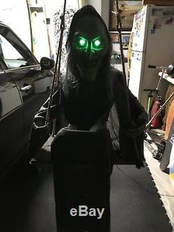 Spirit Halloween Animated Swinging Hag