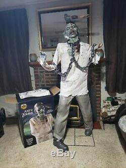 Spirit Halloween Axed Zombie Life Size Prop Rare/Amazing Detail
