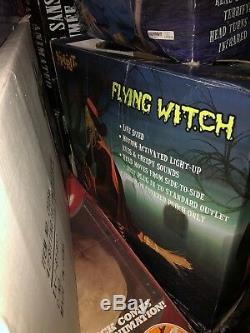 Spirit Halloween Flying Witch Animatronic Rare Htf