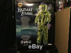 Spirit Halloween Hazmat Zombie Prop Decor Rare New in Box