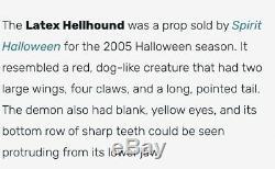 Spirit Halloween Hellhound Hidden Illusions 2005 Rare Latex Gargoyle Terror Dog