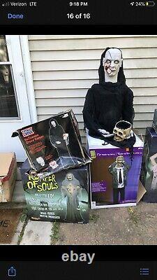 Spirit Halloween Prop Reaper Of Souls Animatronic Rare Htf Bnib Gemmy Morbid