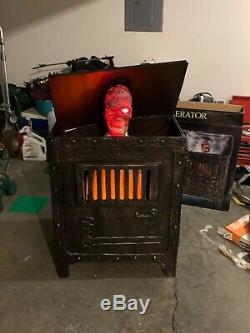 Spirit Halloween Rare Incinerator Zombie animated prop