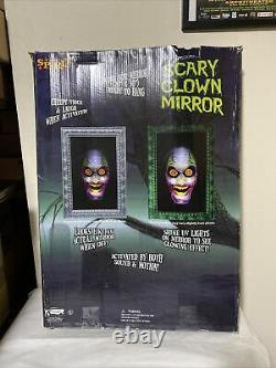 Spirit Halloween Scary Clown Mirror 30x20 Ready To Hang With Moving Jaw