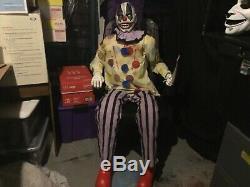 Spirit Halloween Thrashing Clown Prop Decor Rare Slightly Used No Box