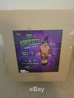 Spirit halloween harvester scarecrow animated halloween prop