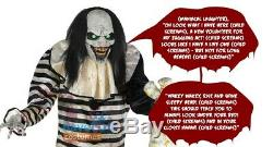 Sweet Dreams Clown Animated Prop 7' Evil Scary Animatronic Halloween Lifesize