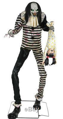 Sweet Dreams Clown Halloween Animated Life Size Prop Haunted Animatronic Outdoor