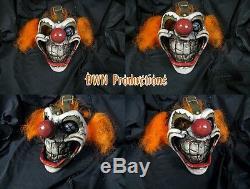 Sweet tooth clown mask twisted metal mortal kombat prop fiberglass cosplay dwn