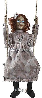Swinging Decrepit Dessie Doll Animated Prop HALLOWEEN Possessed Victorian Doll