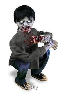Tekky Animated Crouching Zombie Limb Eater Halloween Prop