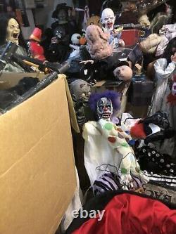 Thrashing Clown Spirit Halloween Animated Prop Gemmy With Tnt Box