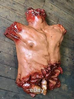 Torso Chest Halloween Prop Gory Bloody Horror Haunted House Spill Your Guts