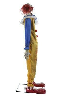 Twitching Clown Animated Prop Evil Lifesize Carnival Animatronic Halloween
