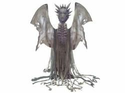 Ultimate Animated Dragon Halloween Prop 7 Ft Wings Life Size Winter Grey Fog New