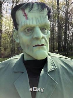 VERY RARE Gemmy Halloween Life Size Animated Boris Karloff Frankenstein