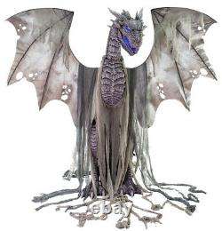 Winter Dragon Animatronic Roaring 7' Life Size Halloween Haunted Decoration Prop