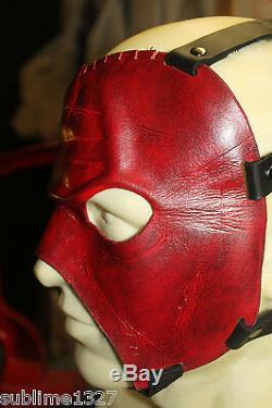 Wrestling mask handmade leather Kane prop sublime1327 Halloween prop fetish